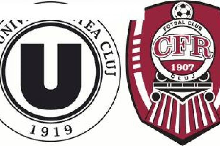 """""""U"""" Cluj vs CFR: Vezi când se va juca derby-ul Clujului"""