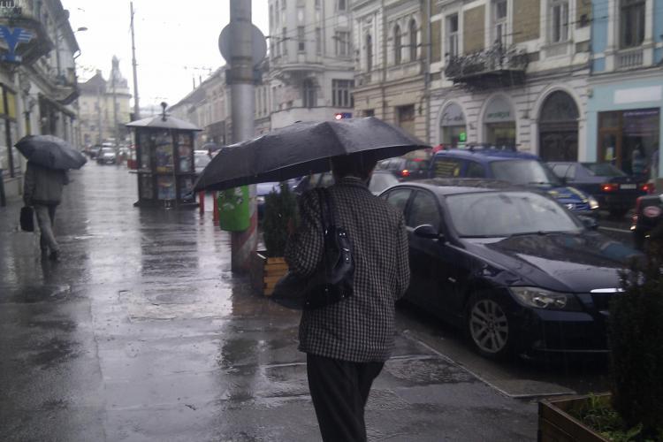 COD GALBEN de ploi la Cluj. VEZI zona afectată