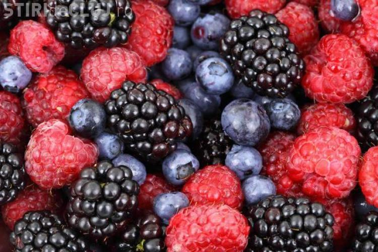 Fructe de pădure cu VIRUS HEPATIC A, exportate din România, retrase din consum în Italia