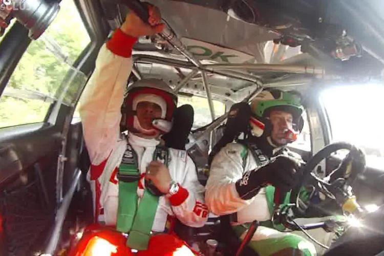 Ionel Ganea, în mașina de raliu cu Marco Tempestini! La 170 km/h se ținea de bară ca în autobuz - VIDEO