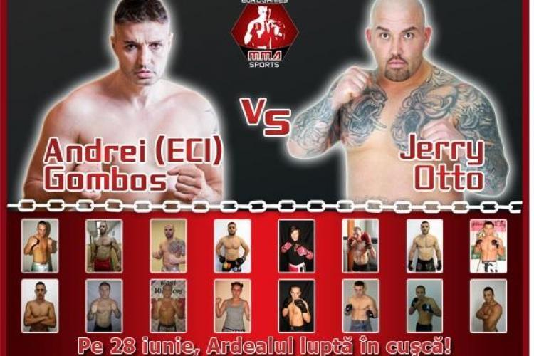 Gala MMA România vs. Ungaria, în cuşcă hexagonală la Sala Sporturilor Cluj. Meciul VEDETĂ: Gomboş Andrei (Eci) şi Jerry Otto