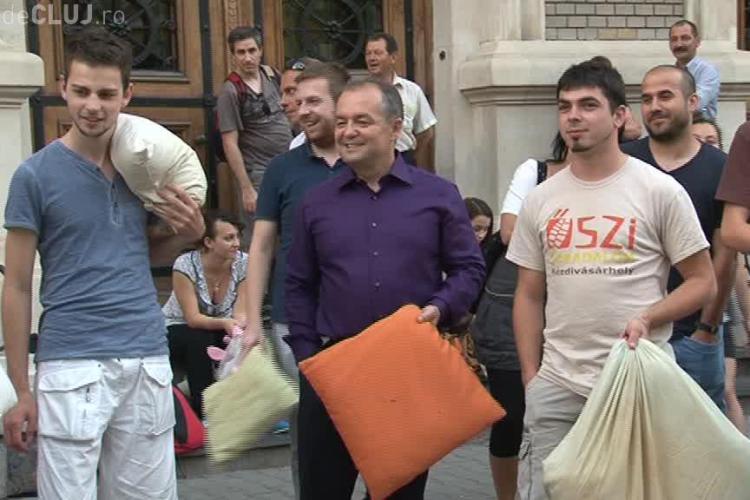Boc s-a bătut în centrul Clujului cu tinerii maghiari - VIDEO