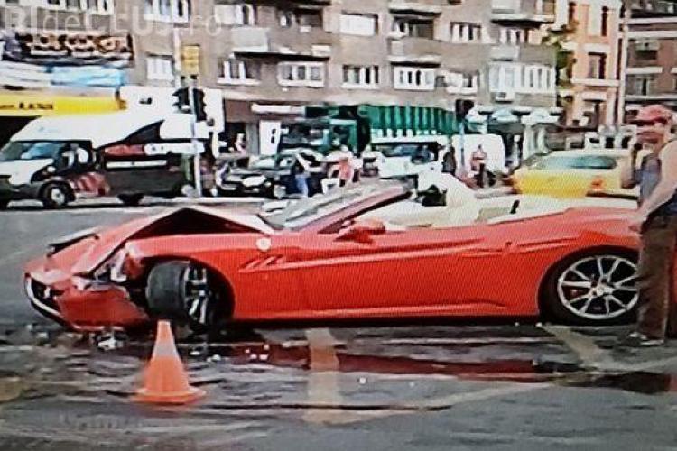 Manelistul Adi Minune, accident cu Ferrari-ul său de 180.000 de euro