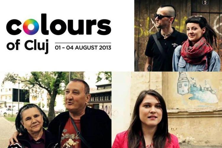 """Orașul prinde culoare la festivalul """"Colours of Cluj"""" VIDEO"""