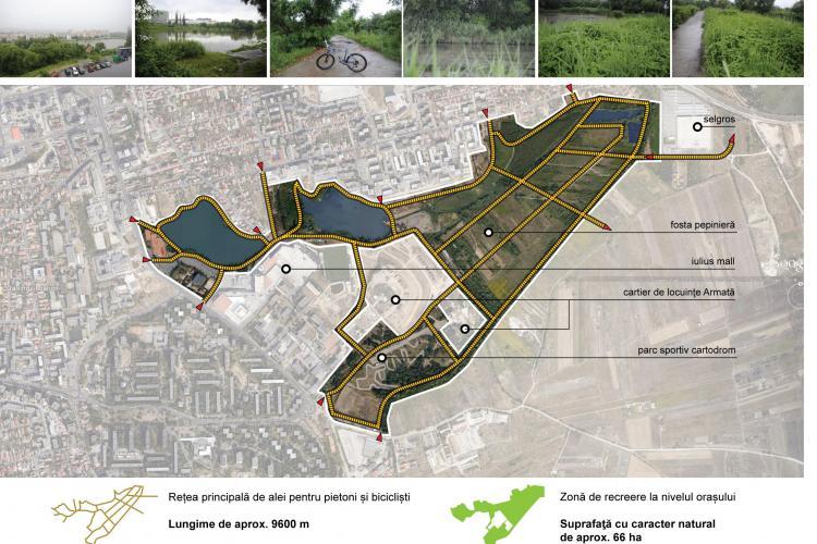 Parc de 6 hectare Între Lacuri propus de ecologiștii clujeni. VEZI întreaga locație