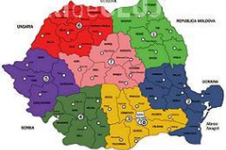 Sondajele arată care ar putea fi capitalele după regionalizare. Clujul se află printre ele
