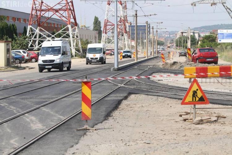 Linia de tramvai Piaţa Gării - Bulevardul Muncii, finalizată la finalul lunii iulie - FOTO