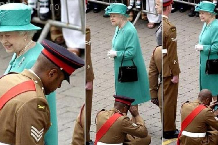 Cum s-a UMILIT un soldat în faţa Reginei Marii Britanii
