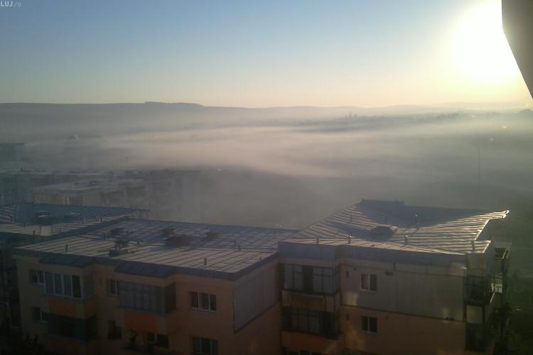 Clujenii din Someșeni sufocați de fumul de la Pata Rât FOTO