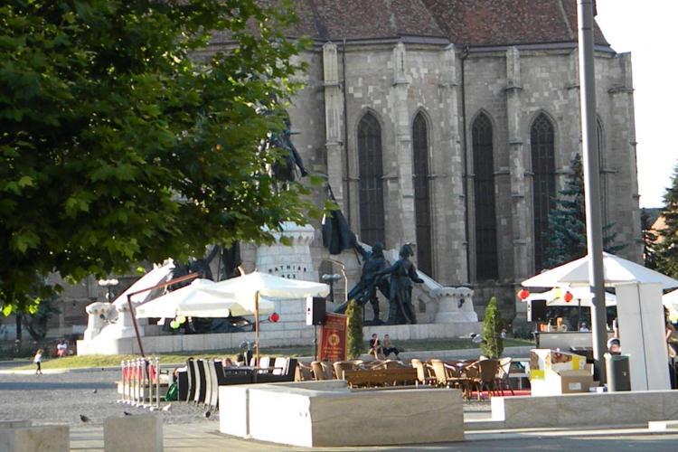 Terase în Piața Unirii! În zona ZERO a Clujului ar putea apărea crâșme peste vară
