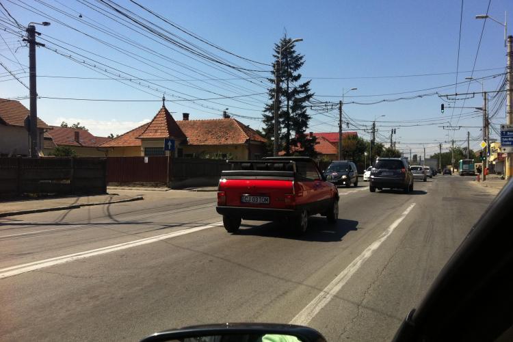 Poza zilei: Oltcit decapotabil pe străzile Clujului. Cum arată bijuteria tunată - VIDEO