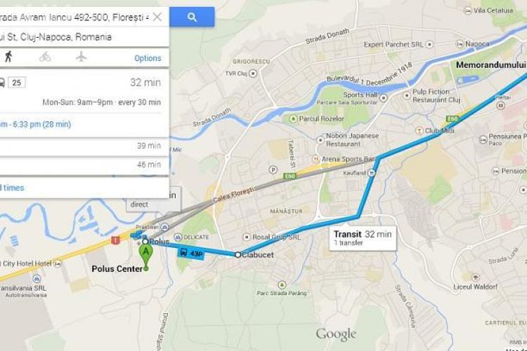 Traseele RATUC, prezente si pe Google Maps