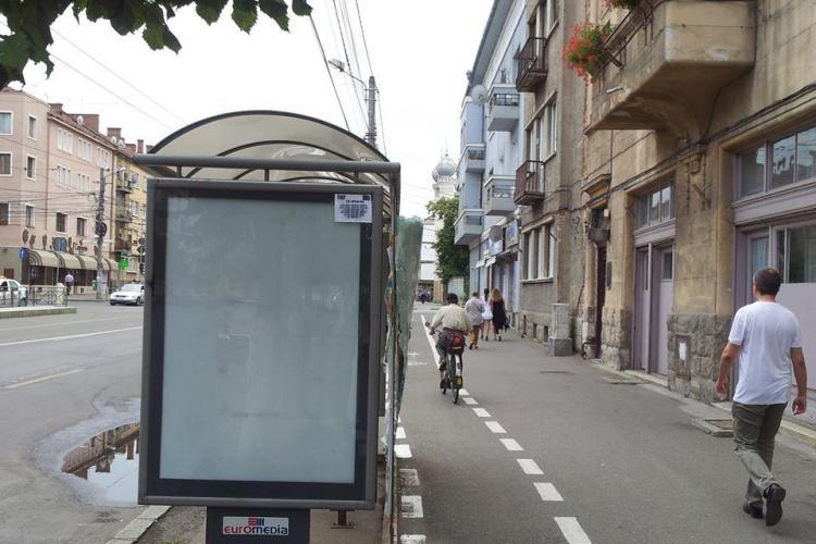 Capcană pentru bicicliștii clujeni, pe pista de pe strada Horea - FOTO