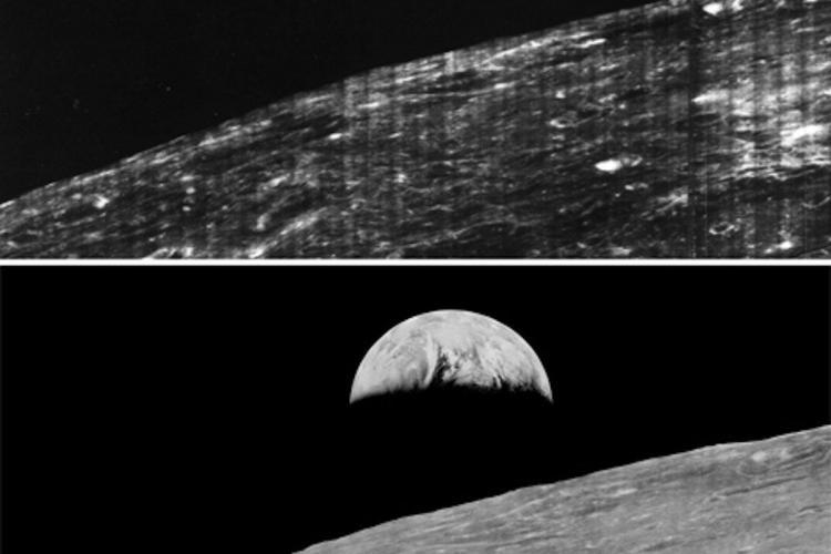 Aceasta este prima poză cu Pământul văzut de pe Lună. A fost făcută acum 47 de ani - FOTO