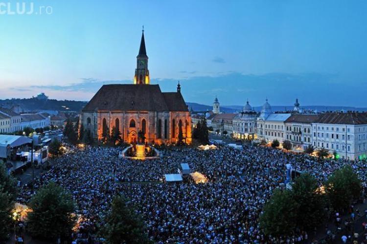 Zilele Culturale Maghiare din Cluj au stabilit un record de public în Piața Unirii - FOTO