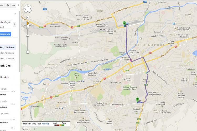 Transportul public din Cluj-Napoca e pe Google Maps Transit. VEZI detalii