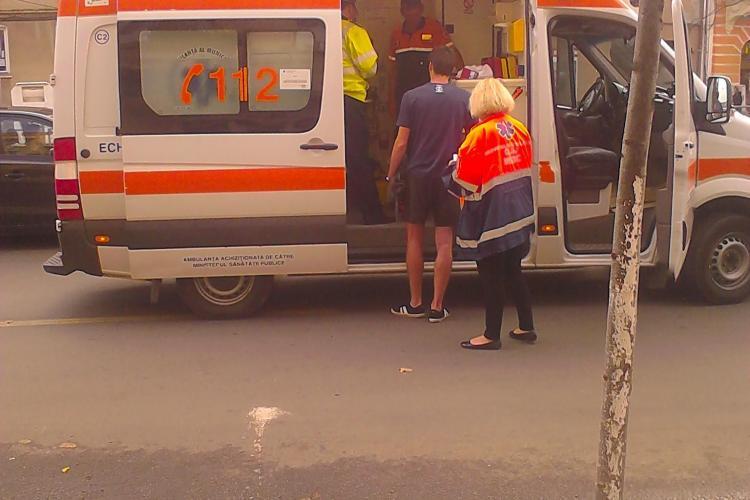 Femeie accidentată pe strada Horea, în zona refugiului de tramvai de lângă Facultatea de Filologie UPDATE FOTO