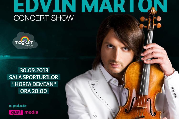 Edvin Marton va susține un concert la TIMAF Cluj 2013, în septembrie. Cât costă biletele?