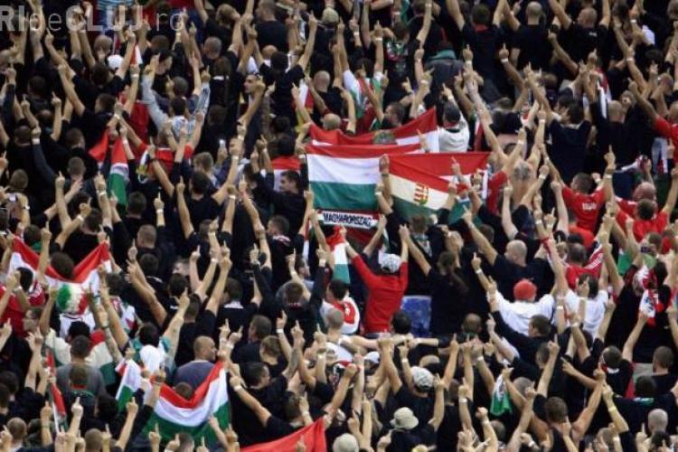 Reacție scandaloasă a suporterilor maghiari pe National Arena
