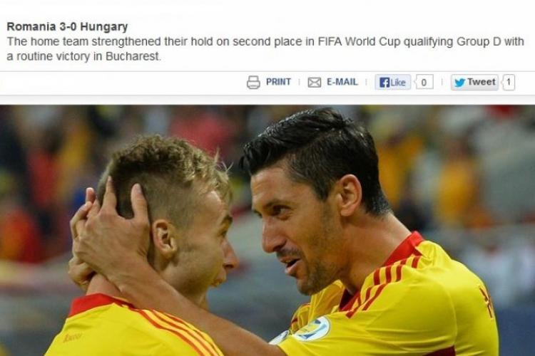 România, ridicată în slăvi de către UEFA după victoria împotriva Ungariei