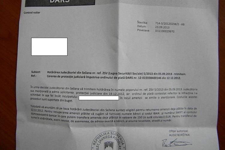 Un clujean a învins Poliția din Slovenia prin Poștă: M-au amendat ilegal!