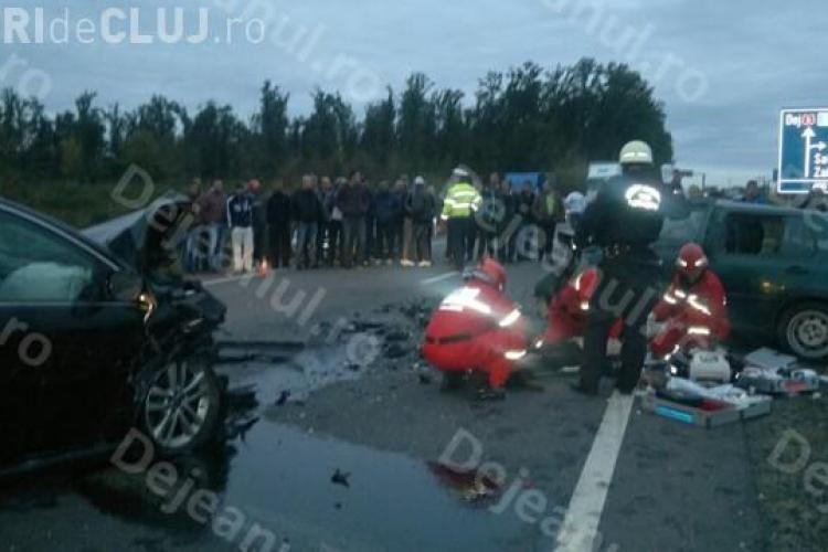 Accident cu mort și patru victime pe drumul Dej - Baia Mare