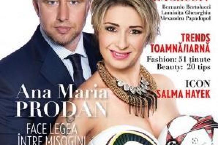 Anamaria Prodan apare dezbrăcată într-un nou pictorial, alături de Reghecampf