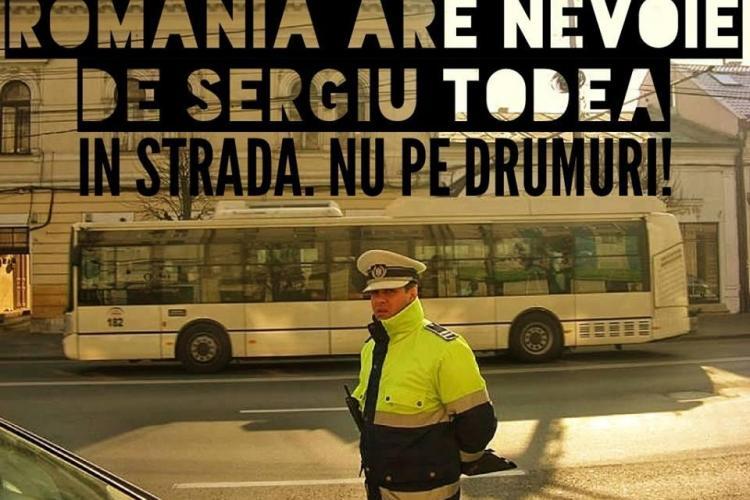 Mesaj pe Facebook, pentru polițistul UMILIT de șefi: Într-o țară normală locul lui Sergiu Todea e în stradă, nu pe drumuri!