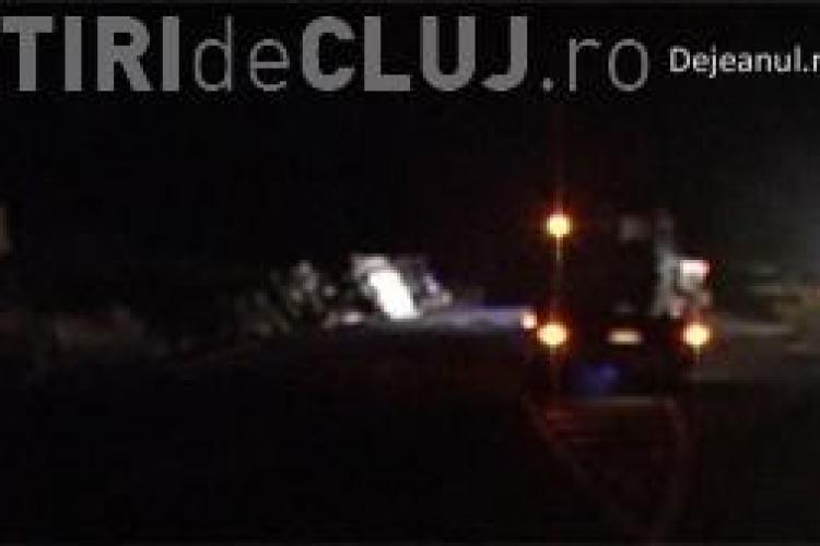 O cisternă plină cu benzină s-a răsturnat pe DN1C VIDEO