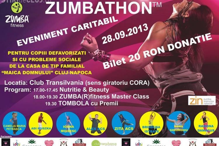 Zumbathon caritabil la Cluj. Vezi cum îi poți ajuta pe copiii defavorizați