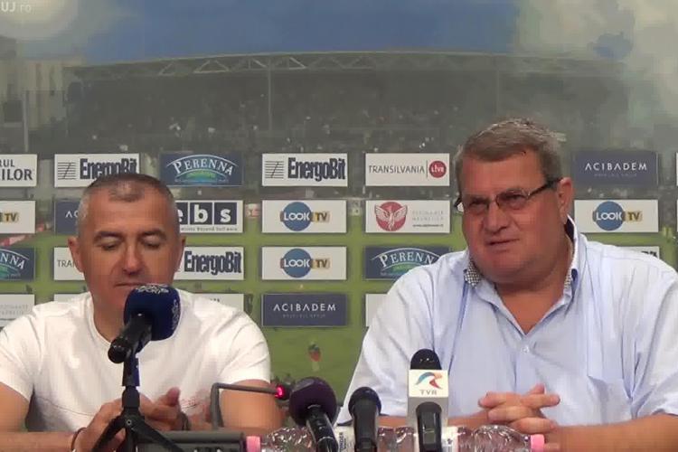 Petre Grigoraș a recunoscut că poate fi dat afara de la CFR Cluj. Ce meci trebuie să nu piardă?