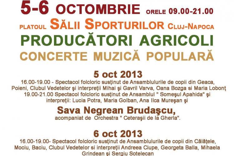 Zilele Recoltei la Cluj-Napoca, în 5 -6 octombrie