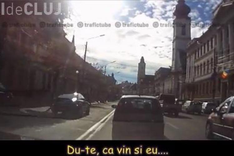 Pe contrasens, prin centrul Clujului. Unii șoferi se cred în Anglia - VIDEO