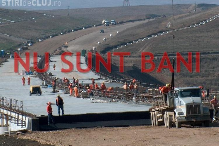Autostrada Transilvania s-a blocat iarăși din lipsa banilor. Guvernul Ponta respectă promisiunea făcută clujenilor