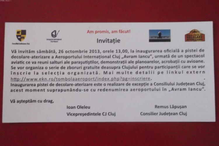 PSD Cluj și PNL Cluj se bat în fluturași prin care promovează noua pistă a Aeroportului Cluj