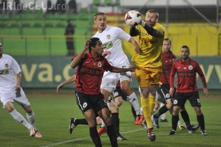 """Înfrângere pentru """"studenți"""": FC Vaslui-""""U"""" Cluj 2-0"""