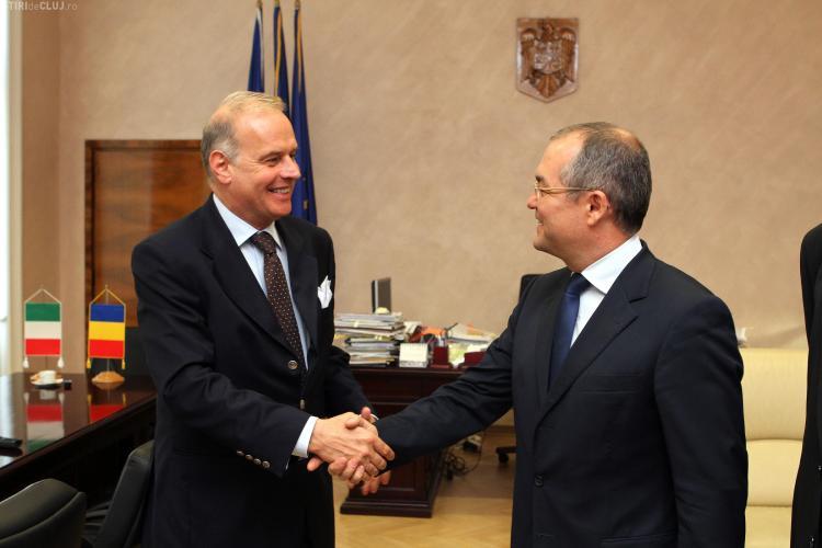 Ambasadorul Italiei în vizită la Primăria Cluj-Napoca: Susțin Clujul! - FOTO