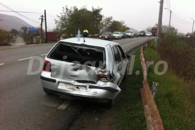 Accident cu o victimă la ieșirea din Dej. Un TIR și două mașini au fost implicate