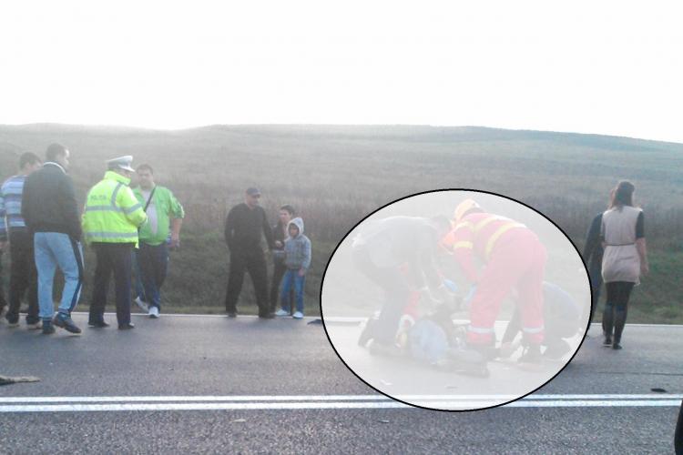 Accident la Tureni! Un șofer a intrat cu mașina sub o remorcă, după ce s-a BLOCAT în timpul unei manevre - FOTO VIOLENTE