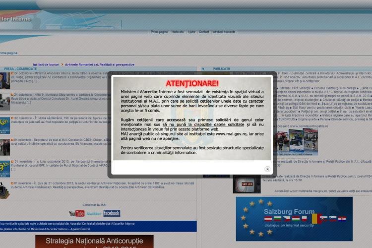 Site-ul Poliției Române clonat și folosit pentru a-i ÎNȘELA pe români