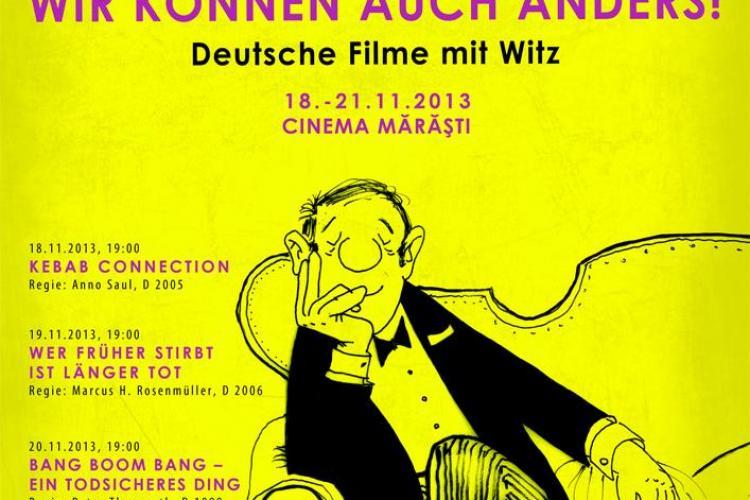 Filme de comedie germane, săptămâna viitoare la Cinema Mărăști. Intrarea este gratuită