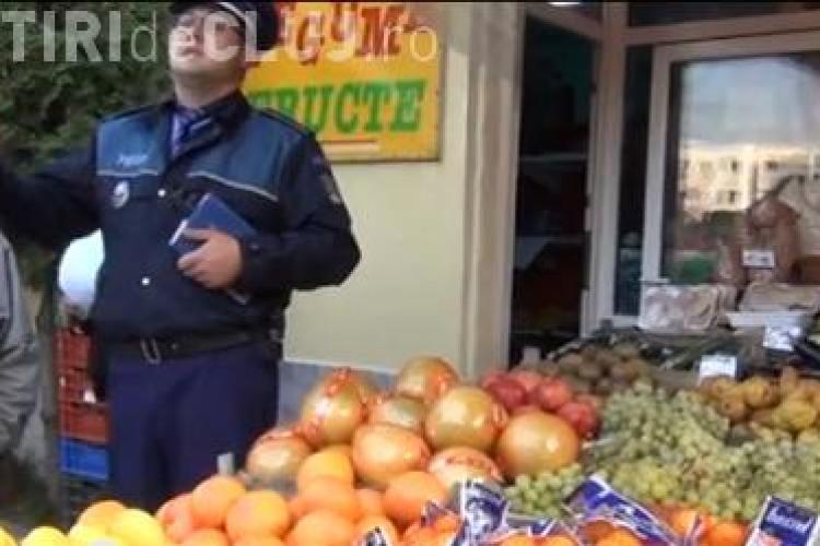 Peste jumătate de tonă de fructe confiscate de polițiști în cartierul clujean Mănăștur-VIDEO