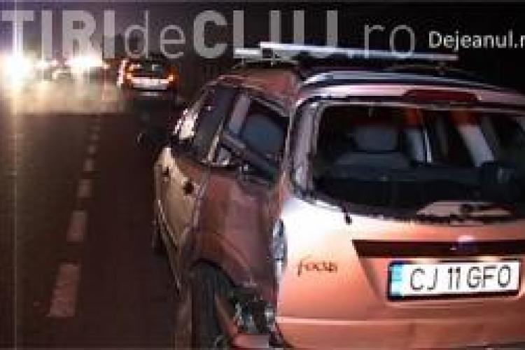 Accident între un autoturism și un camion la Bonțida. S-au format cozi de mașini lungi de kilometri VIDEO