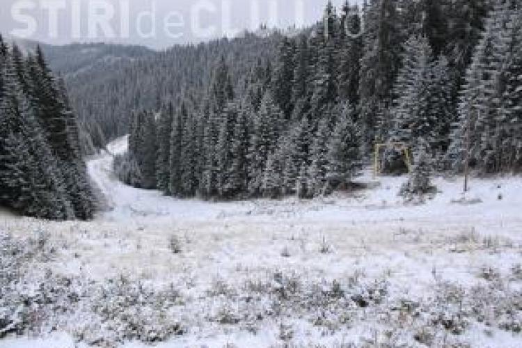 La Băișoara stratul de zăpadă este de 10 centimetri