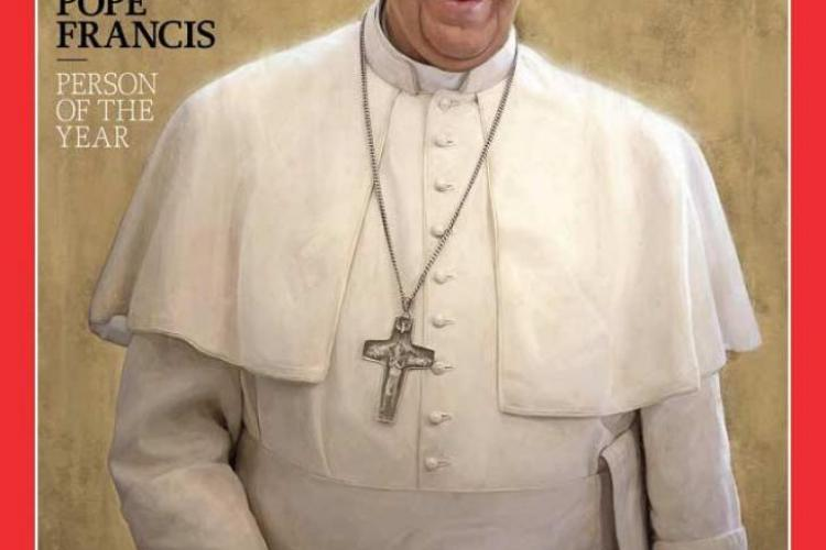 """Papa Francisc, declarat """"Omul anului"""" în 2013"""