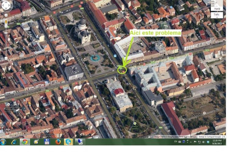 Benzile de circulație din Piața Avram Iancu, regândite pentru că sunt un PERICOL pentru circulație