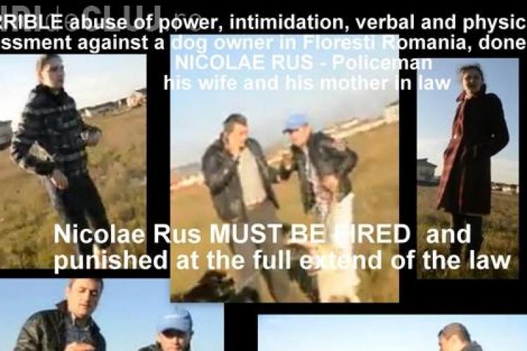 Petiție împotriva polițistului din Florești, care s-a răfuit la cererea soției cu proprietarul unui caine