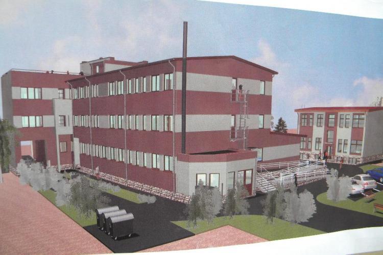 Un bloc cu 46 de locuințe sociale, amenajat langă Gară, în fosta școală Terapia - VIDEO