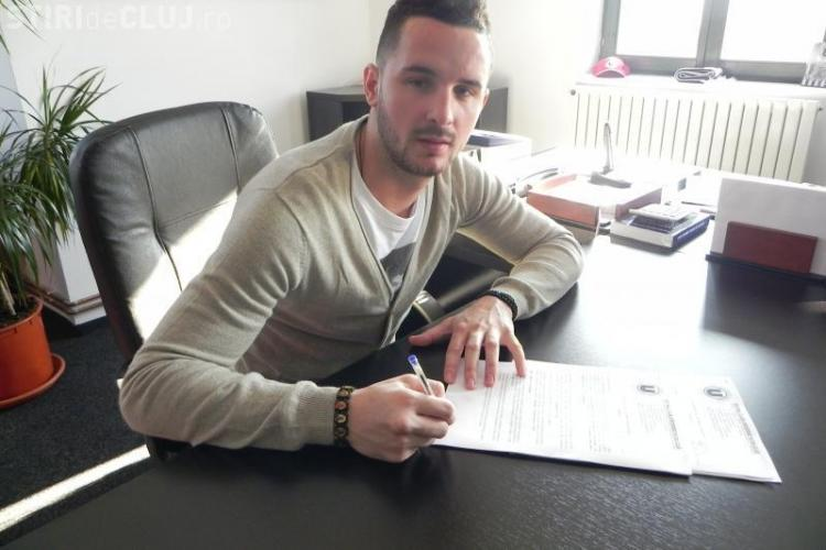 Ionut Rada a semnat pe 6 luni cu Universitatea Cluj - FOTO