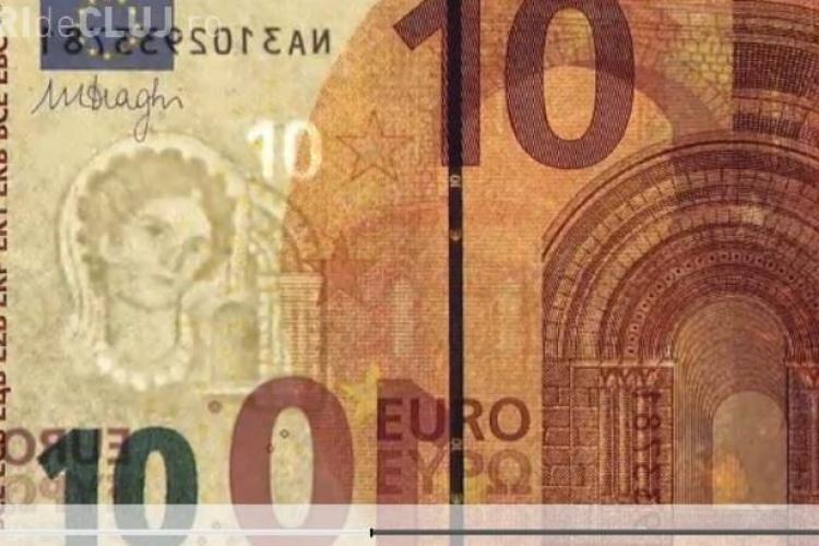 Ies pe piață noi bancnote de 10 EURO. CUM ARATĂ - FOTO